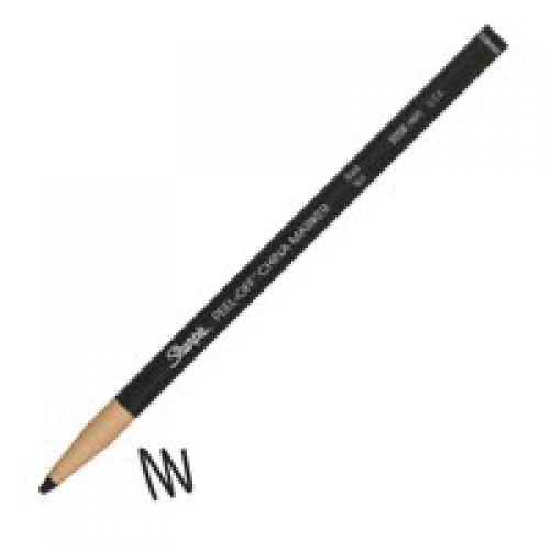 Sharpie Peel-Off China Marker Black PK12
