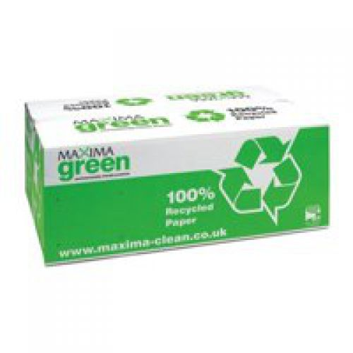 Maxima Green 1Ply Hand Towel C Fold Green PK20