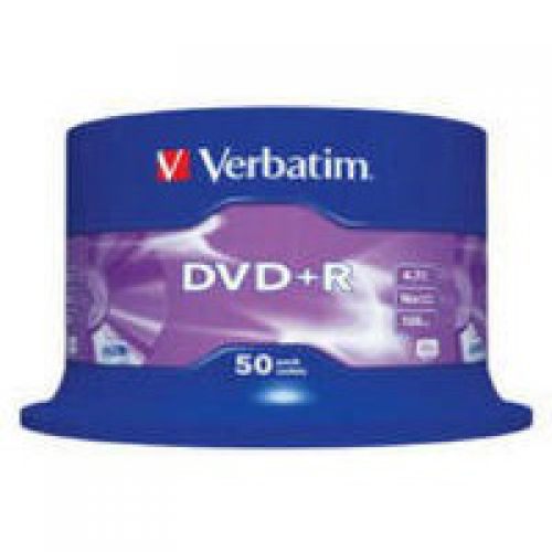 Verbatim DVD Plus R 50Pack Spindle Non Printable