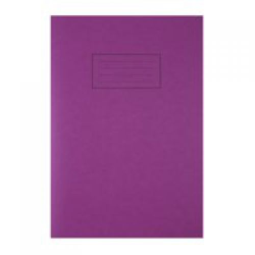Silvine A4 Exercise Book Ruled Purple PK10