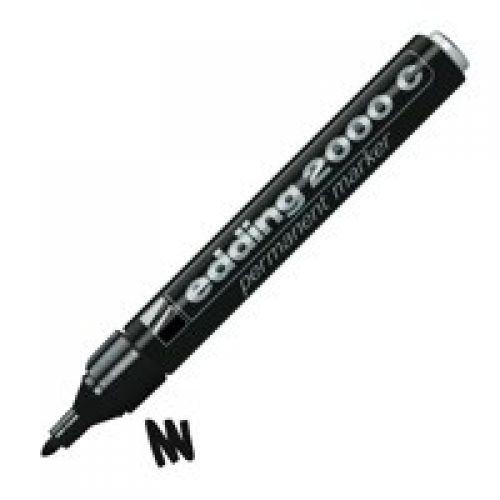 Edding 2000 C Permanent Marker Bullet Tip 1.5-3mm Black PK10