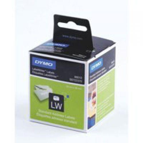 Dymo LabelWriter Standard Address Label 28x89mm 130 Labels Per Roll White (Pack 2)
