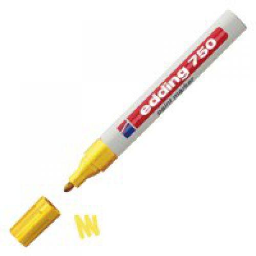 Edding 750 Paint Marker Bullet Tip 2-4mm Line Yellow (Pack 10)