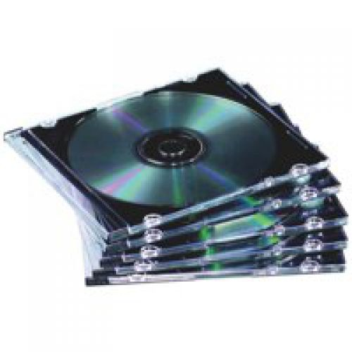 Value Fellowes CD Jewel Case Slimline Clear 9833801 (PK10)