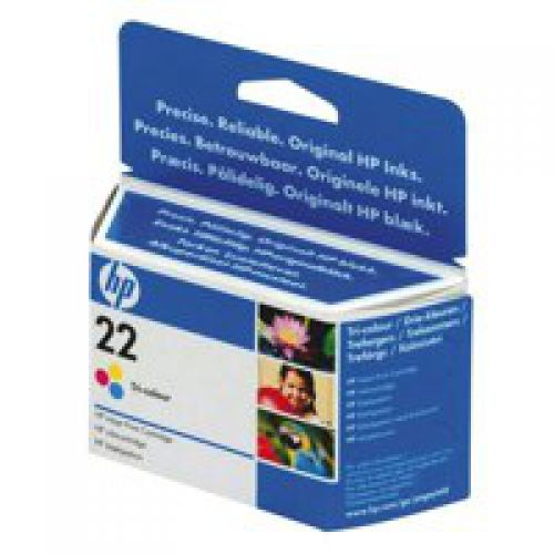 HP C9352A 22 Tricolour Ink 5ml