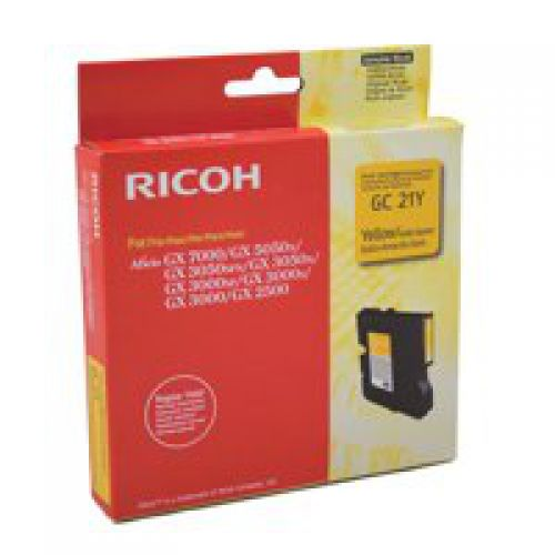 Ricoh 405535 GC21Y Yellow Gel Ink 1K