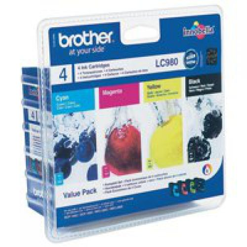 Brother LC980VALBP Black Colour Ink 4x6ml Multipack