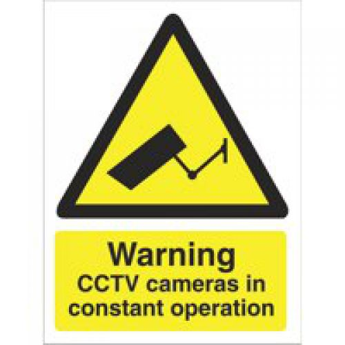 Warning CCTV Cameras Sign