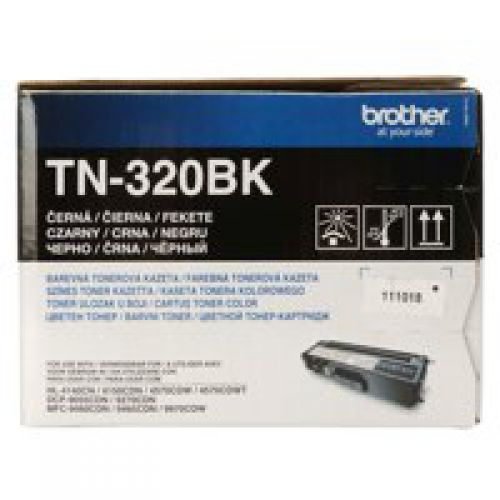 Brother TN320BK Black Toner 2.5K