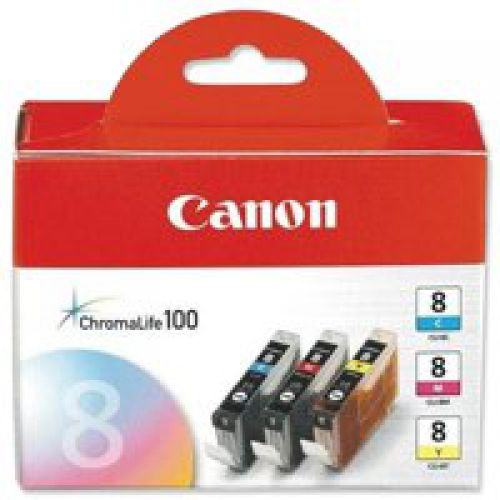 Canon 0621B029 CLI8 CMY Ink 3x13ml Multipack