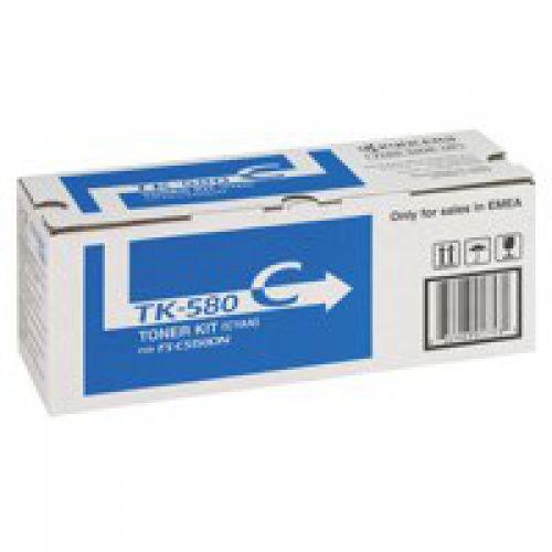 Kyocera 1T02KTCNL0 TK580C Cyan Toner 2.8K