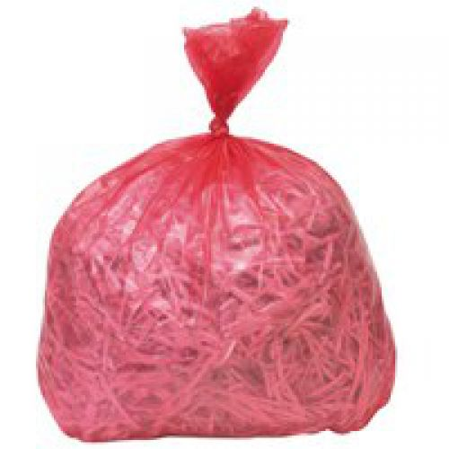 Refuse Sack 100gm Red Pack of 200 Code 0861