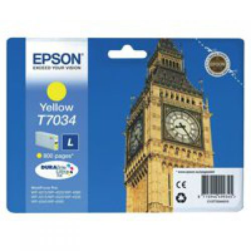 Epson C13T70344010 T7034 Yellow Ink 10ml