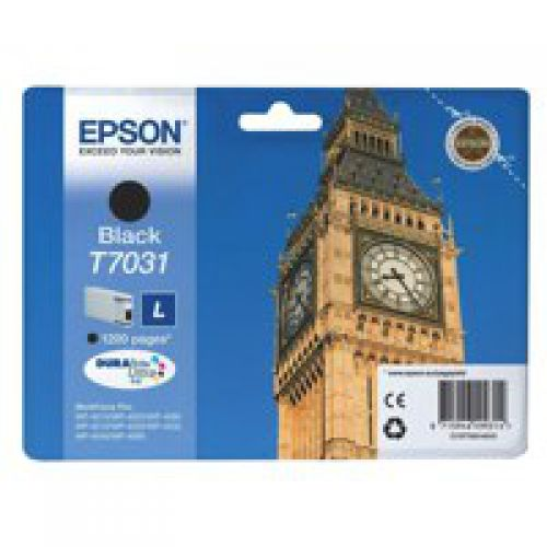 Epson C13T70314010 T7031 Black Ink 24ml