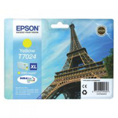 Epson C13T70244010 T7024 Yellow Ink 21ml