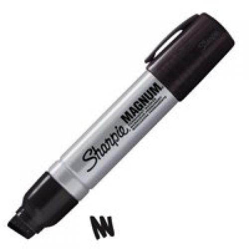 Sharpie Magnum Metal Perm Large Chisel Tip 14.8mm BK PK12