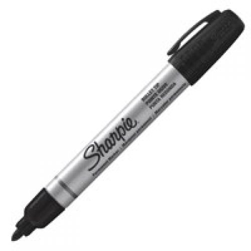 Sharpie Metal Barrel Perm Marker Small Bullet Tip Black PK12