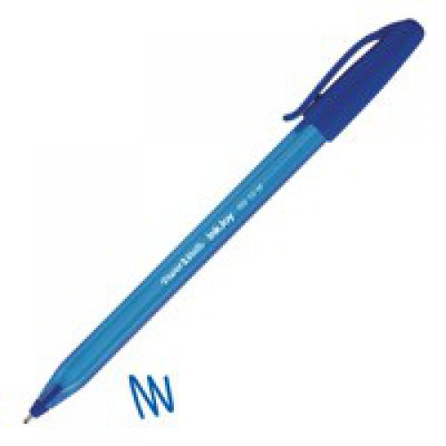 Paper Mate InkJoy 100 CAP Ball Pen Medium Tip Blue PK50