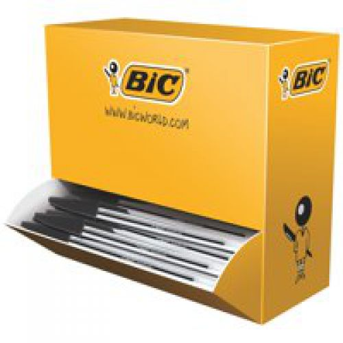 Bic Cristal Ball Pen Medium 1.0mm Black PK100