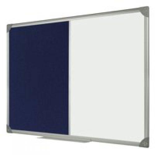 Bi-Office Maya Combo Aluminium Frame Board Blue 90x60cm