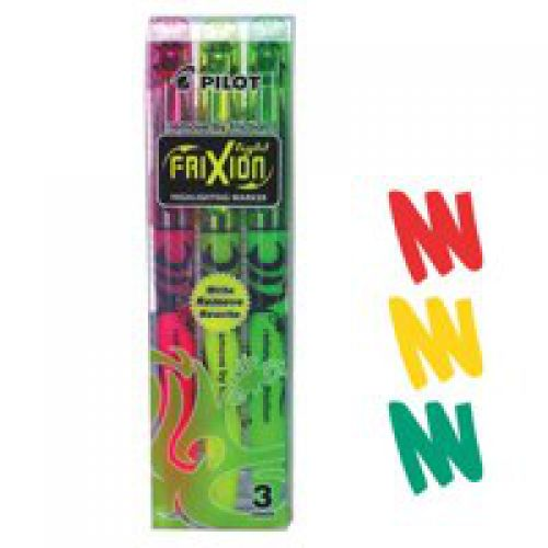 Pilot Frixion Erasable Highlighter PK3