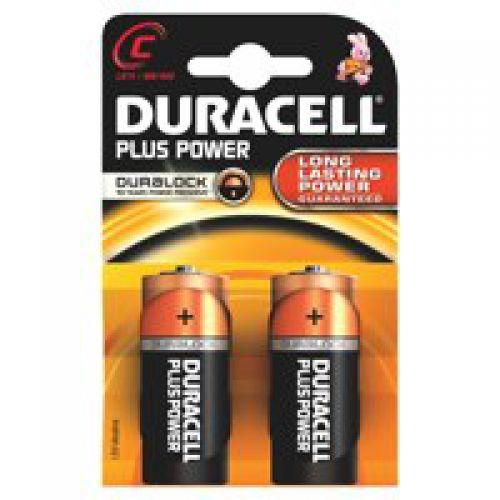 Duracell C Plus Batteries PK2