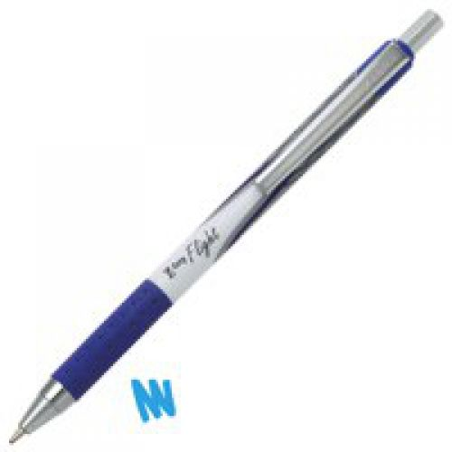 Zebra Z-Grip Flight Medium Ball Pen Blue 1.2mm PK12