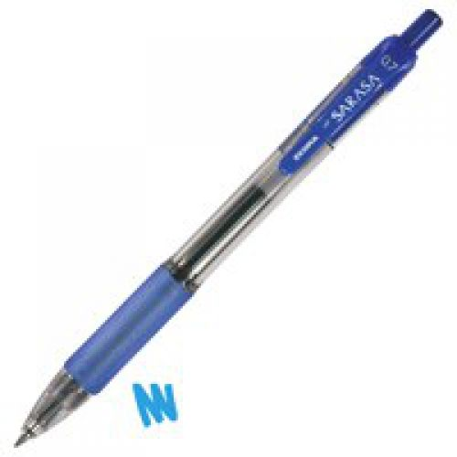 Zebra Sarasa Retractable Rollerball Gel Ink 0.7mm Blue PK12