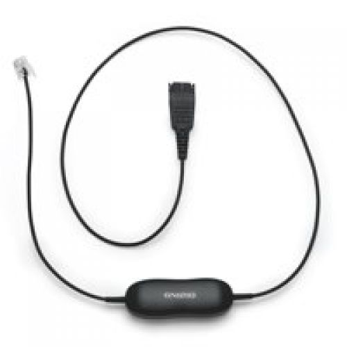 Jabra Smart Cord QD to RJ9 Coiled