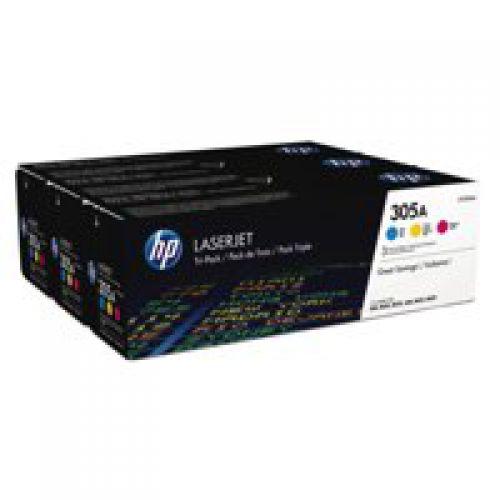 HP CF370AM 305A Multipack Toner 3x 2.6K