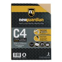 New Guardian Heavywght Pocket Peel and Seal Manilla C4 PK25