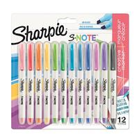 Sharpie S-Note Assorted Pack 12  2138233