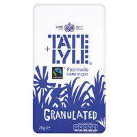 Tate & Lyle Granulated Pure Cane Sugar Bag 2kg