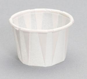 PORTION CUP F075 3/4 OZ PAPER 250/ PKG 5M/CS