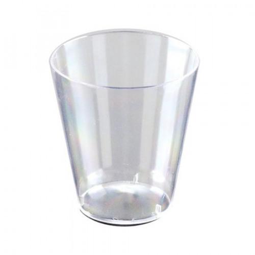 SHOT GLASS EMI-YCWSG2 CLEAR HARD PLASTIC 2 OZ 50/PKG 2500/CS