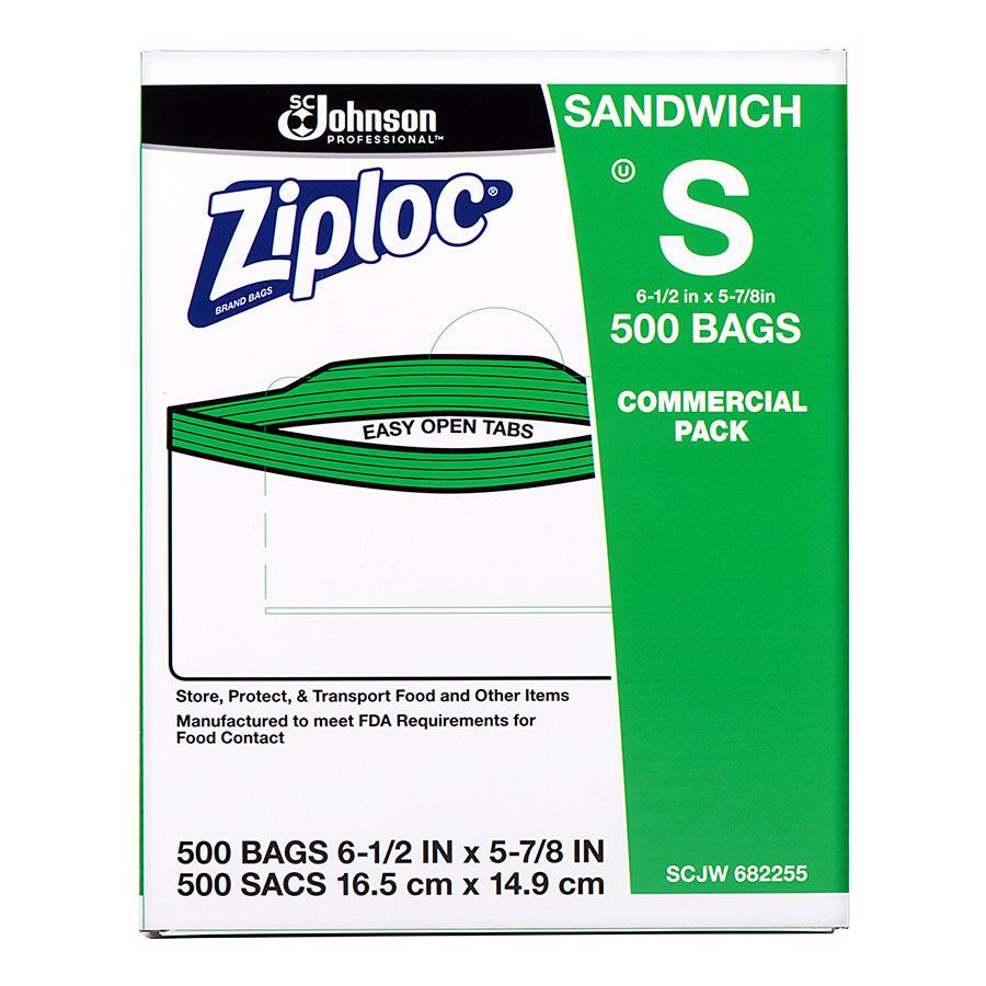 SANDWICH BAG 682255 ZIPLOC 1.2 MIL 500/CS