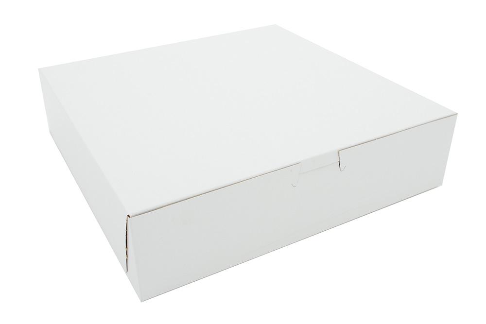 CAKE BOX F202-0840 8X8X4 L/C WHITE OUT/KRAFT