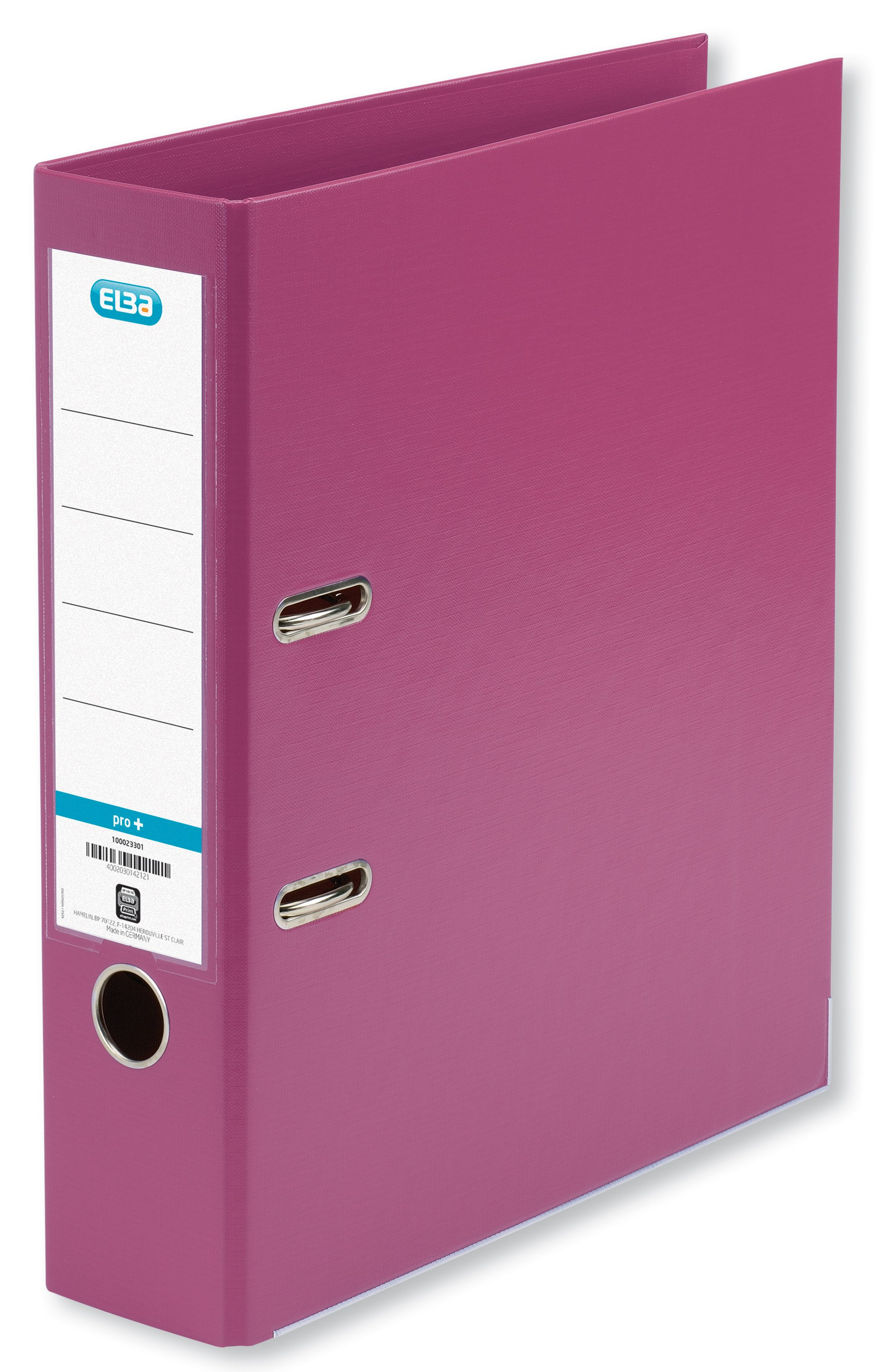 Elba Lever Arch File PVC 70mm Spine A4 Pink Ref 100023300 [Pack 10]