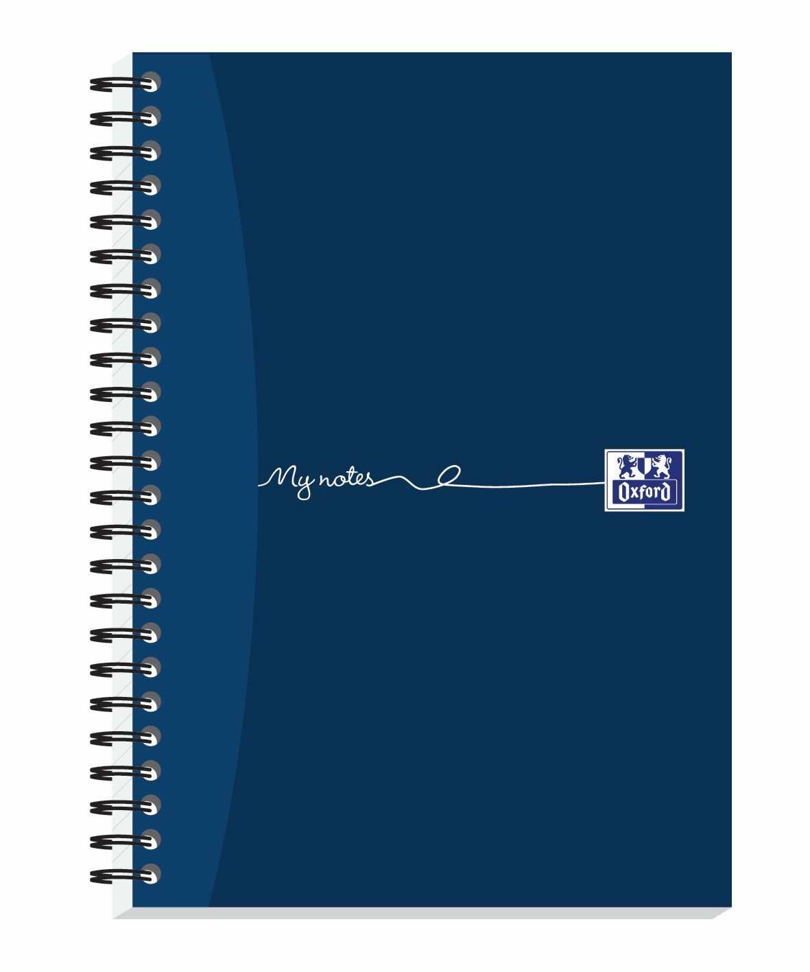 Oxford MyNotes Notebook Wirebound Feint & Margin 90gsm 200pp A5 Ref 100082372 [Pack 3]