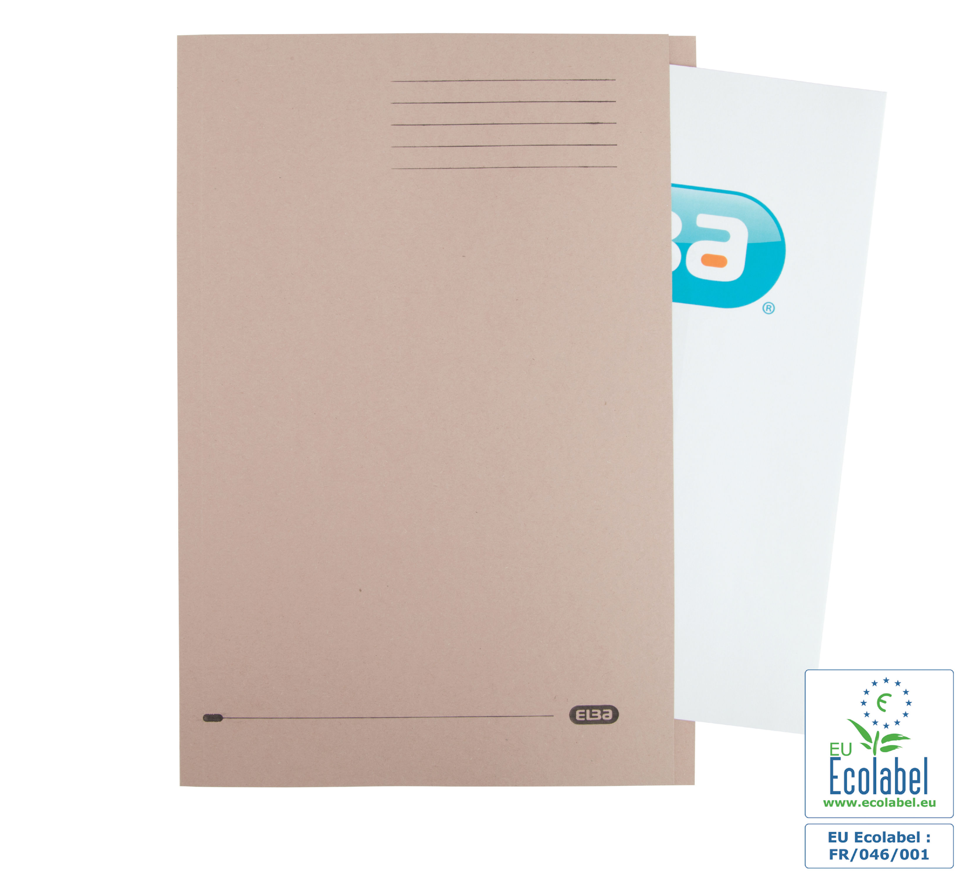 Elba Square Cut Folder Lightweight 180gsm A4 Buff (Pack of 100) 100090117
