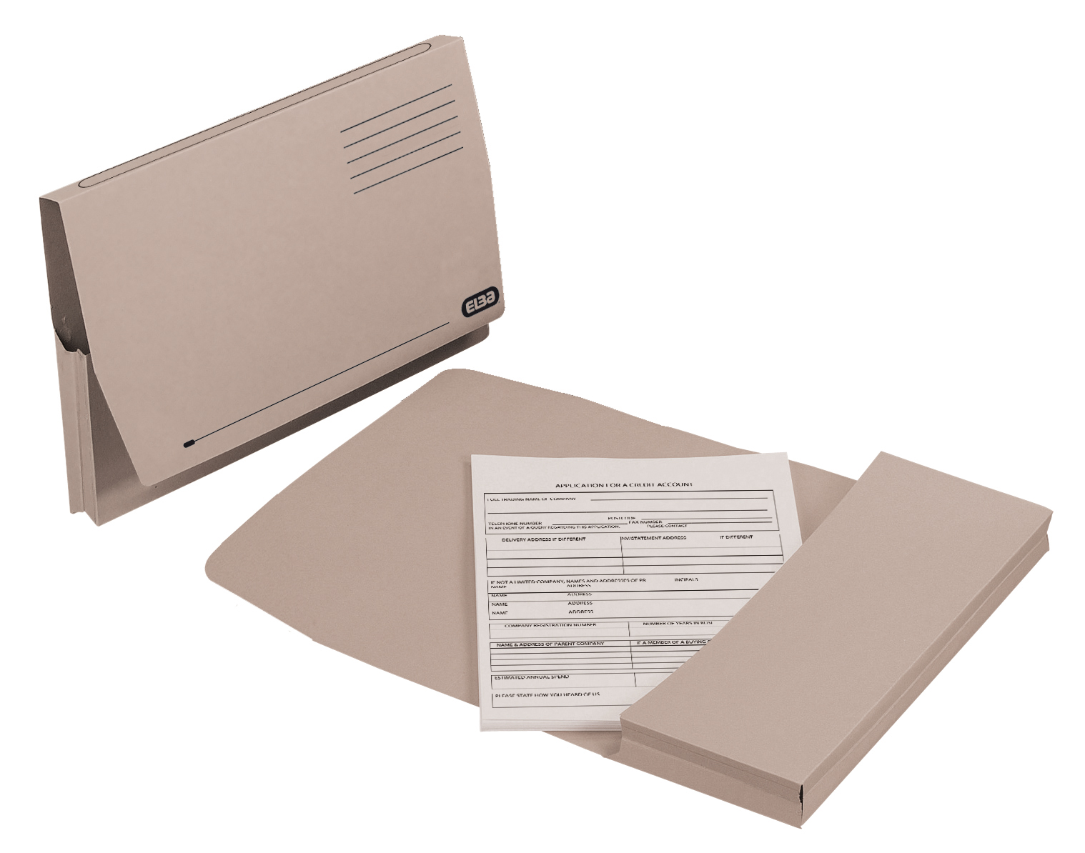 Image for Elba Document Wallet Full Flap 285gsm Capacity 32mm Foolscap Buff Ref 100090130 [Pack 50]