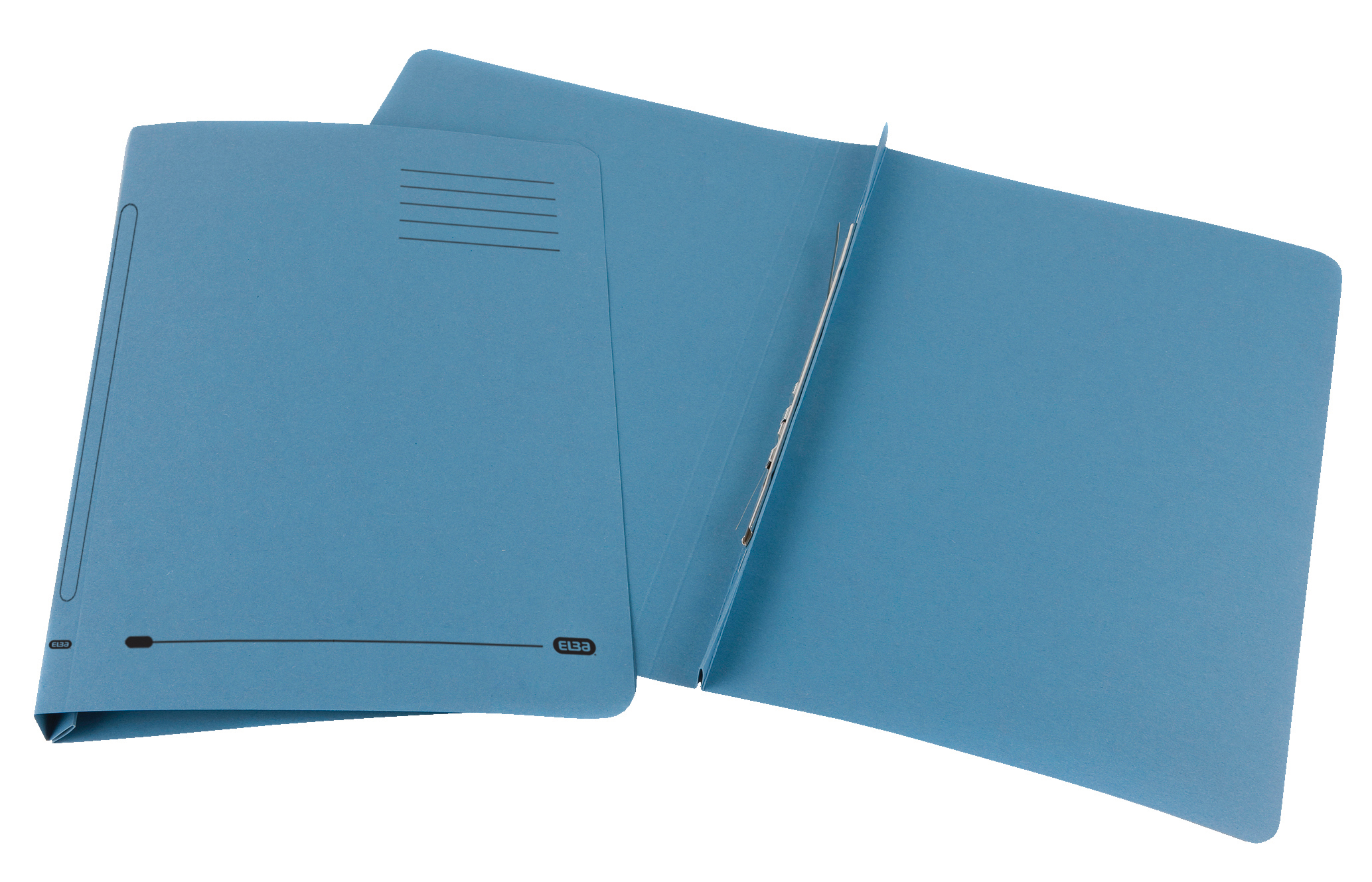 Elba Ashley Flat File 285gsm Capacity 35mm Foolscap Blue Ref 100090154 [Pack 25]
