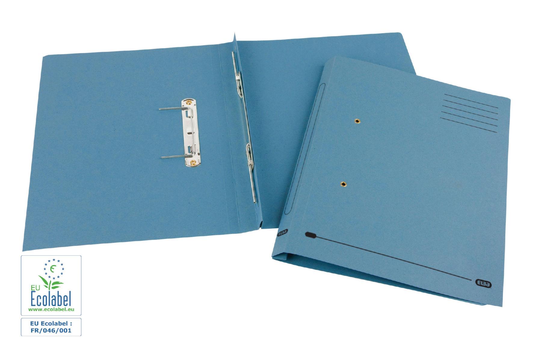 Square Cut Folders Elba Spring Transfer File Manilla Foolscap 285gsm Blue (Pack 25)