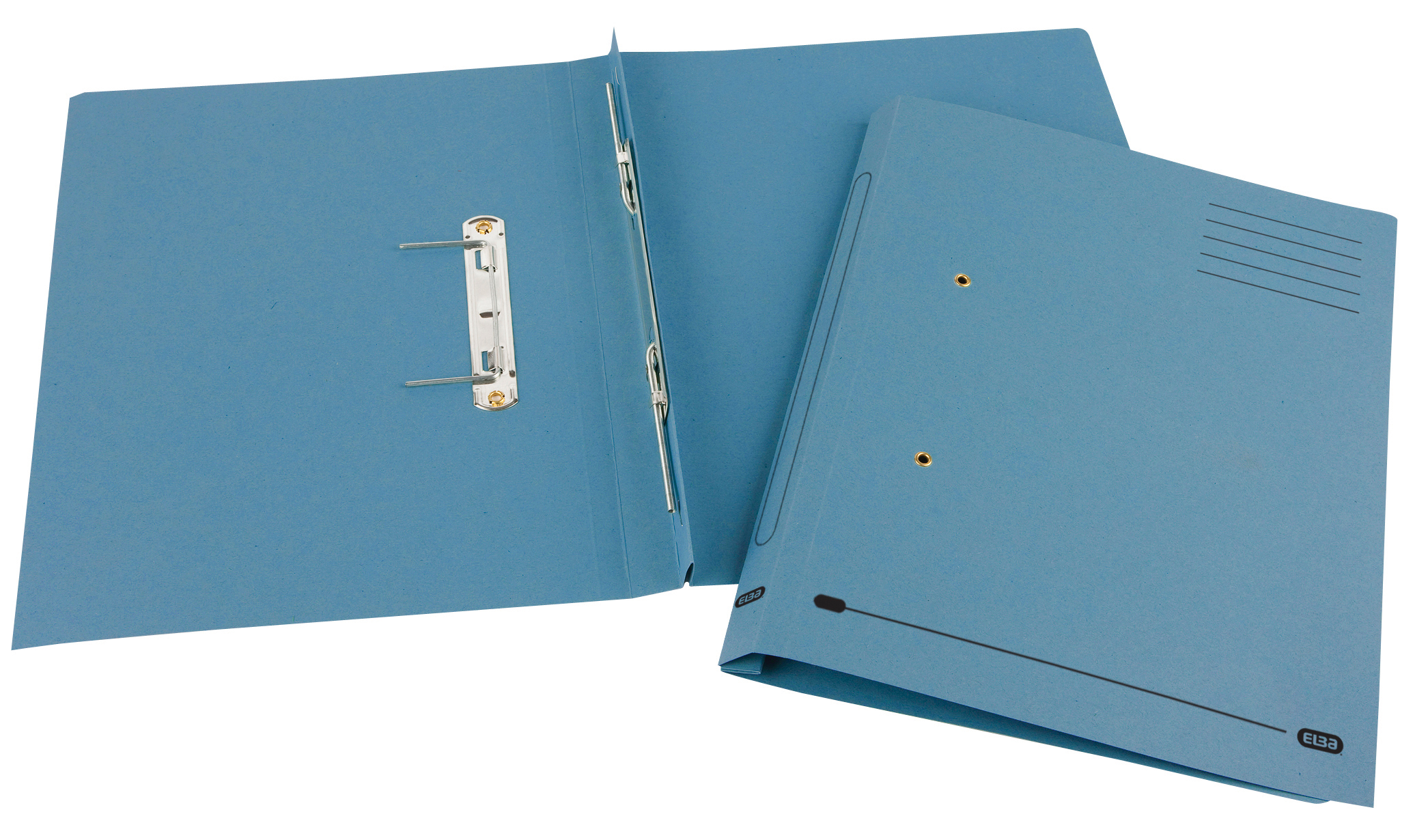 Elba Spirosort Transfer Spring File Recycled 285gsm 35mm Foolscap Blue Ref 100090159 [Pack 25]