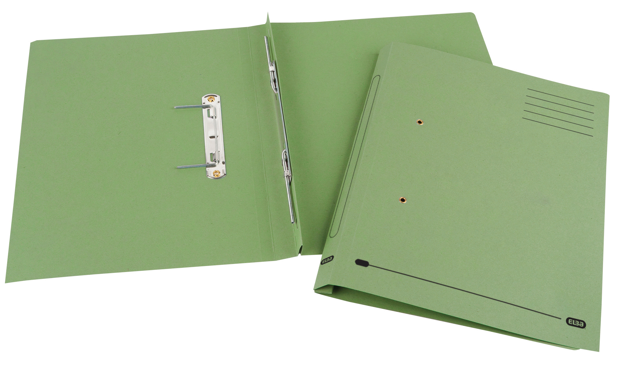 Elba Spirosort Transfer Spring File Recycled 285gsm 35mm Foolscap Green Ref 100090160 [Pack 25]