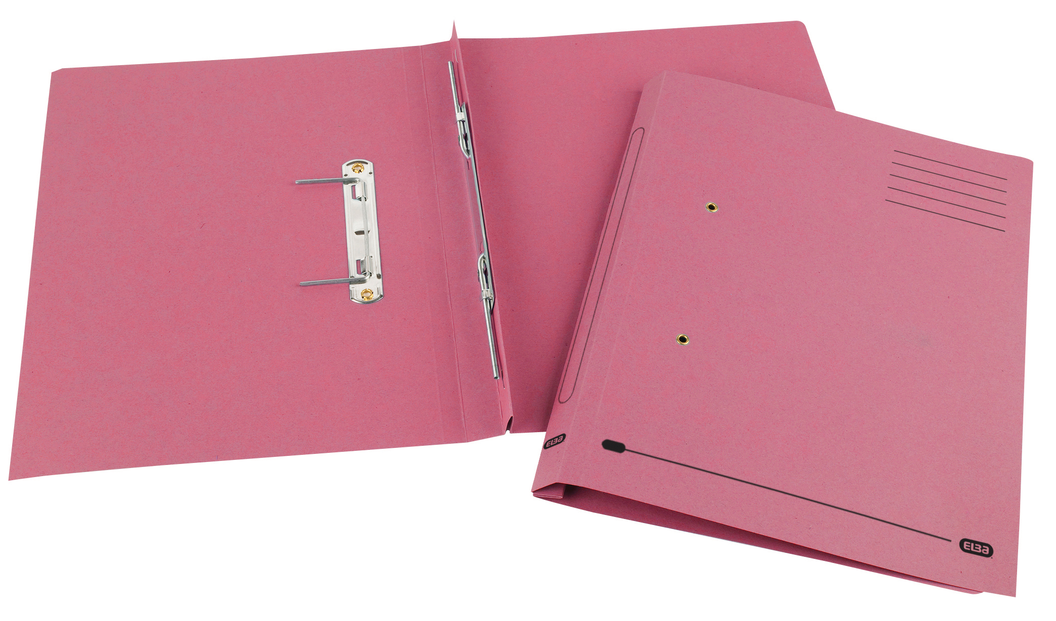 Elba Spirosort Transfer Spring File Recycled 285gsm 35mm Foolscap Pink Ref 100090162 [Pack 25]