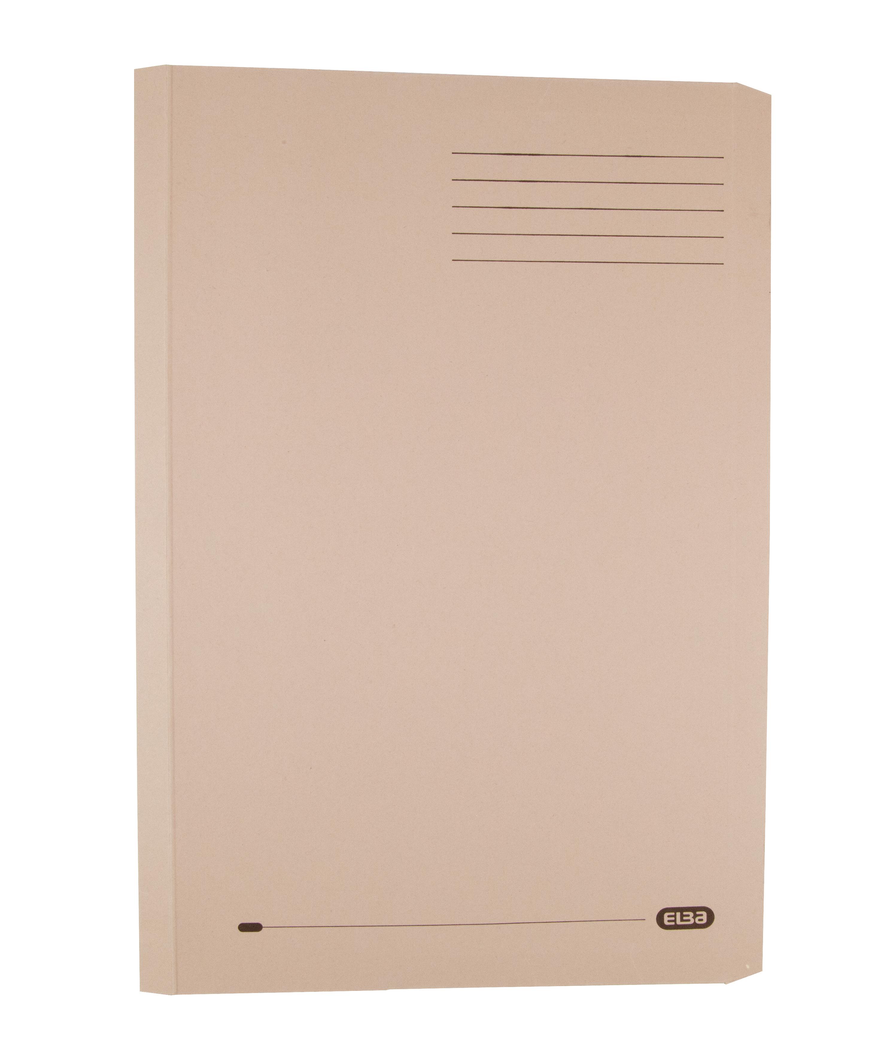 Elba Clifton Flat Bar Pocket (Rear) File 285gsm Capacity 50mm Foolscap Buff Ref 100090177 [Pack 25]