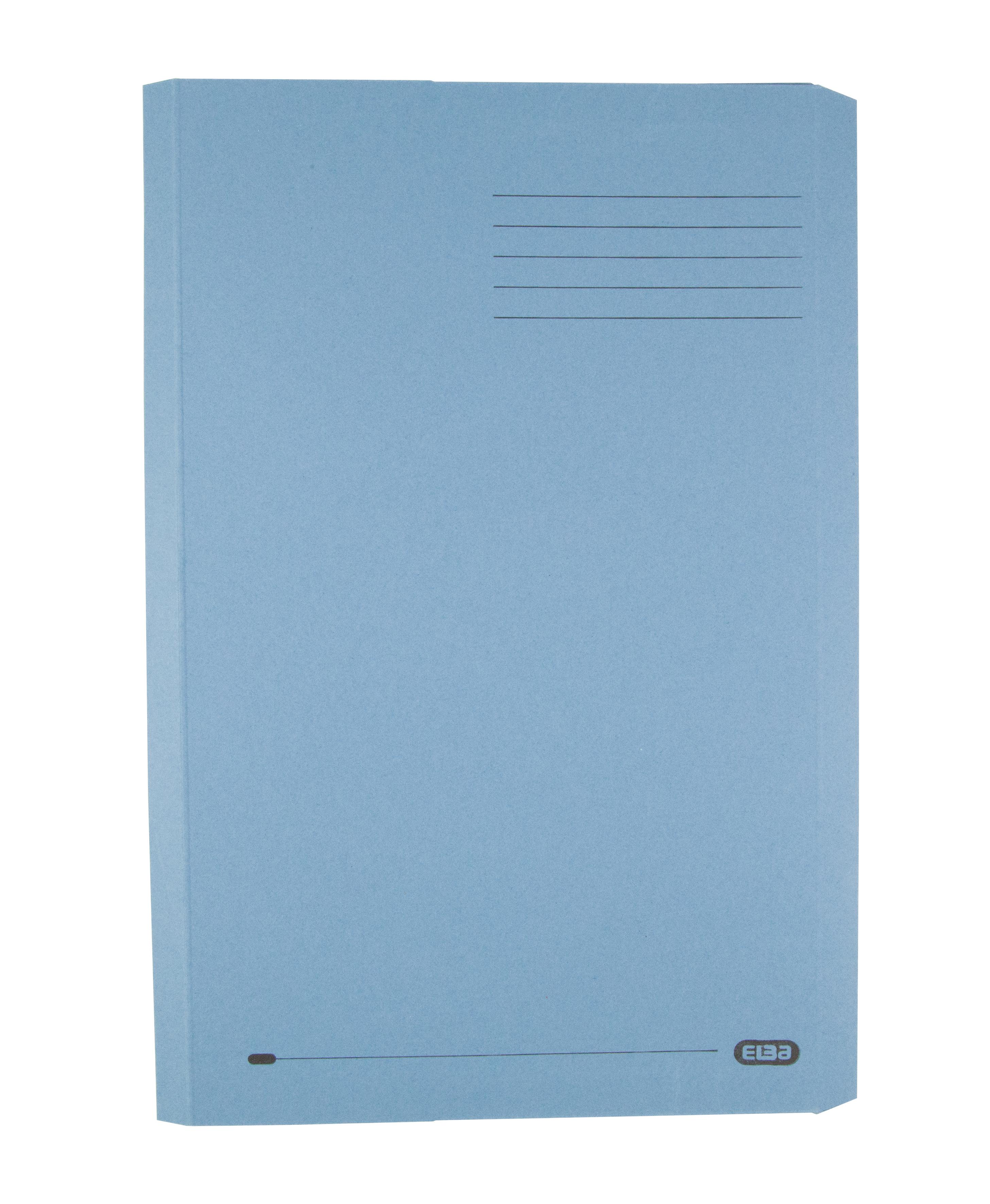 Elba Clifton Flat Bar Pocket (Rear) File 285gsm Capacity 50mm Foolscap Blue Ref 100090178 [Pack 25]