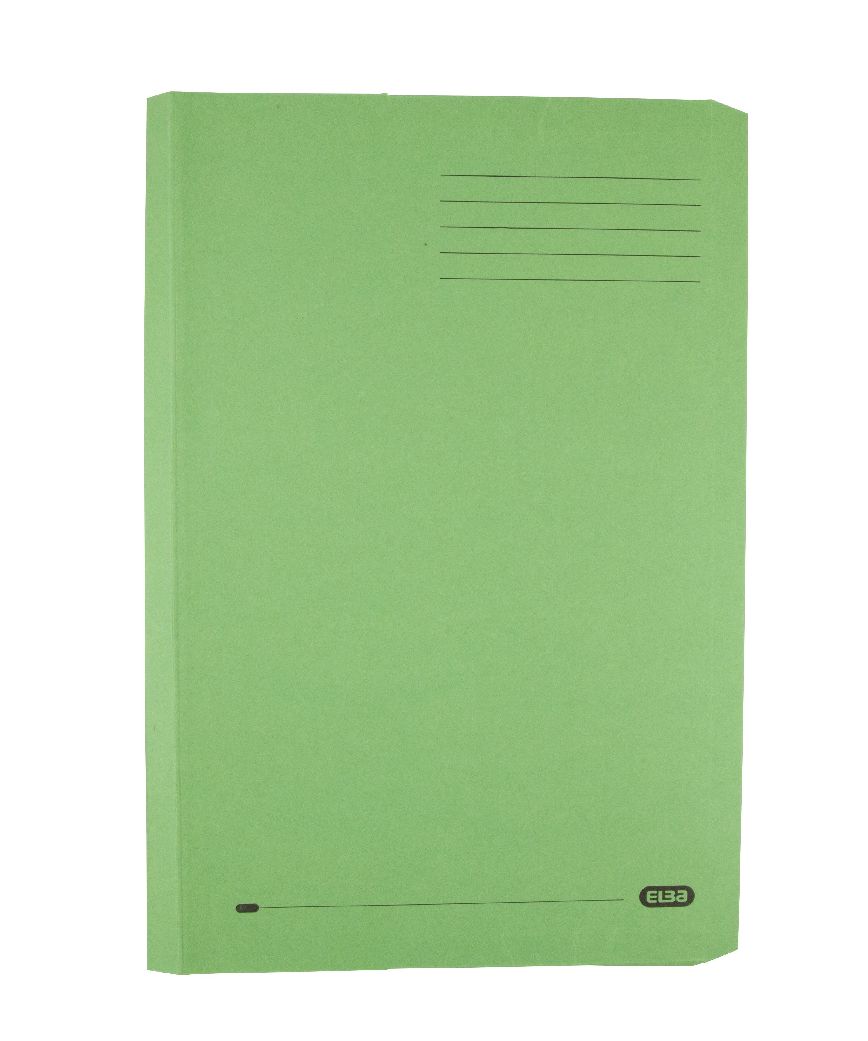Elba Clifton Flat Bar Pocket (Rear) File 285gsm Capacity 50mm Foolscap Green Ref 100090179 [Pack 25]