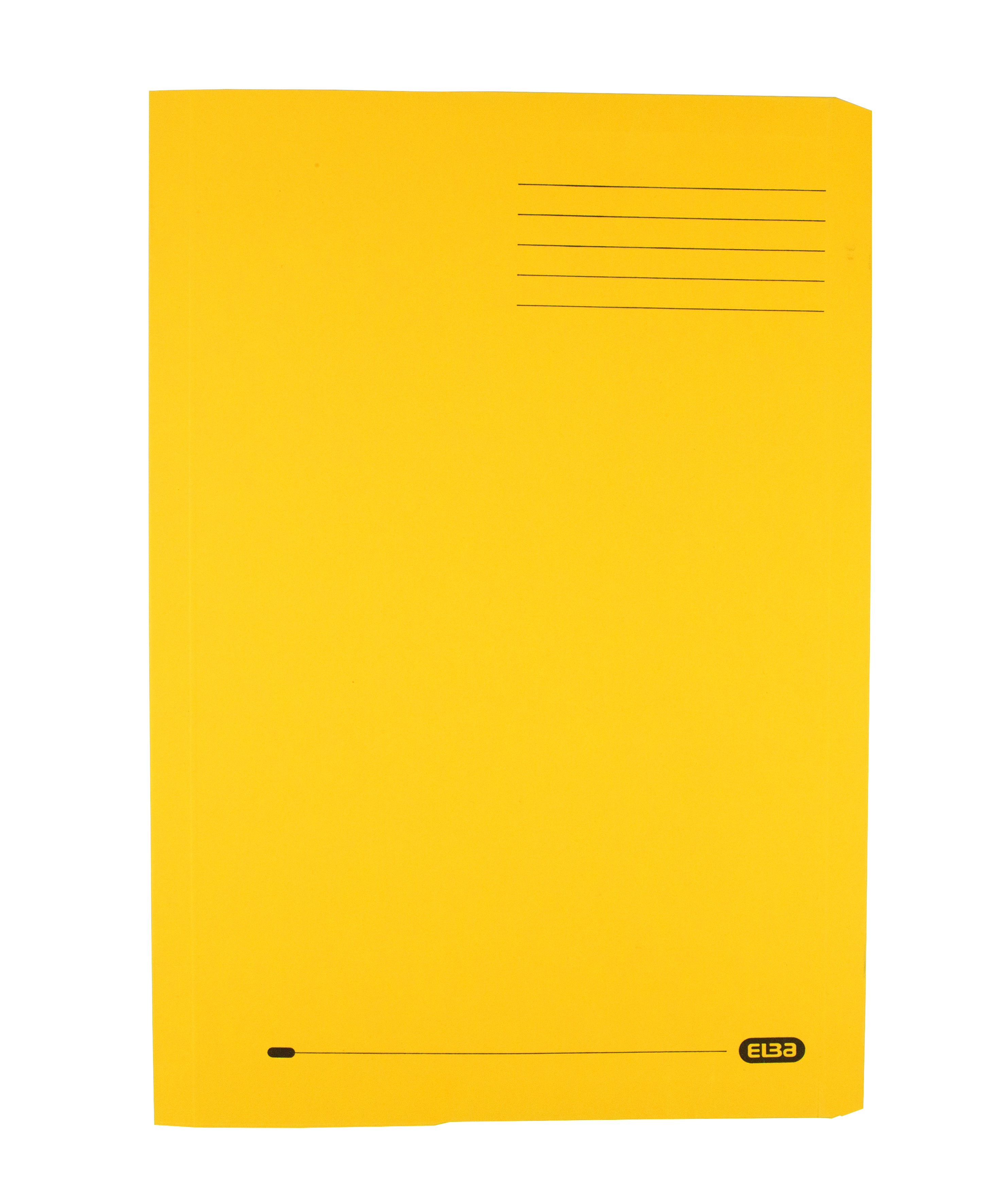 Elba Clifton Flat Bar Pocket (Rear) File 285gsm Capacity 50mm Foolscap Yellow Ref 100090180 [Pack 25]
